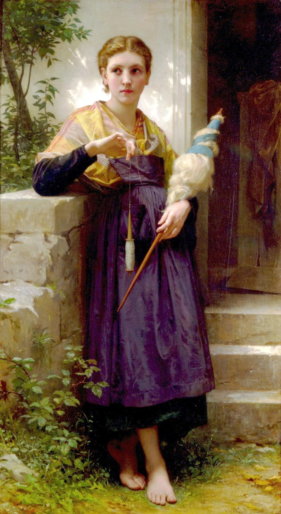 William-Adolphe Bouguereau. Spinner