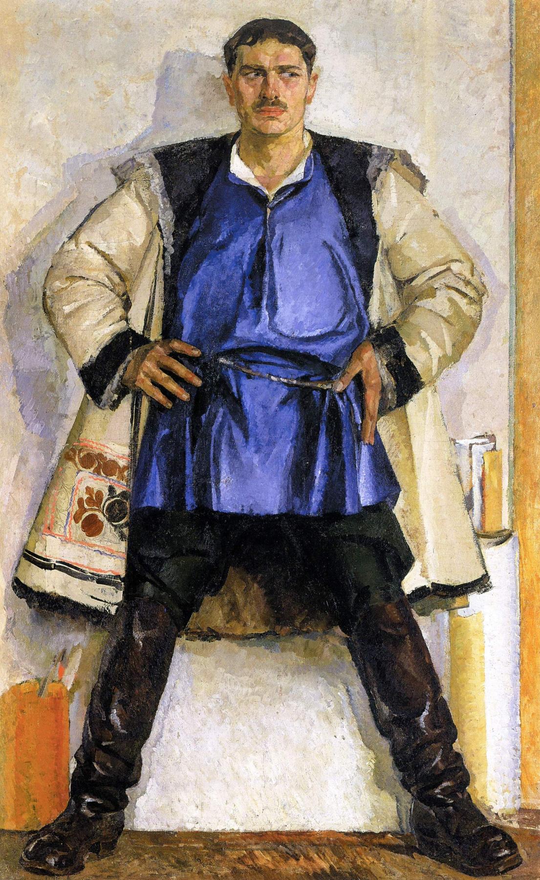 Fedor Grigorievich Krichevsky. Self portrait in a white casing
