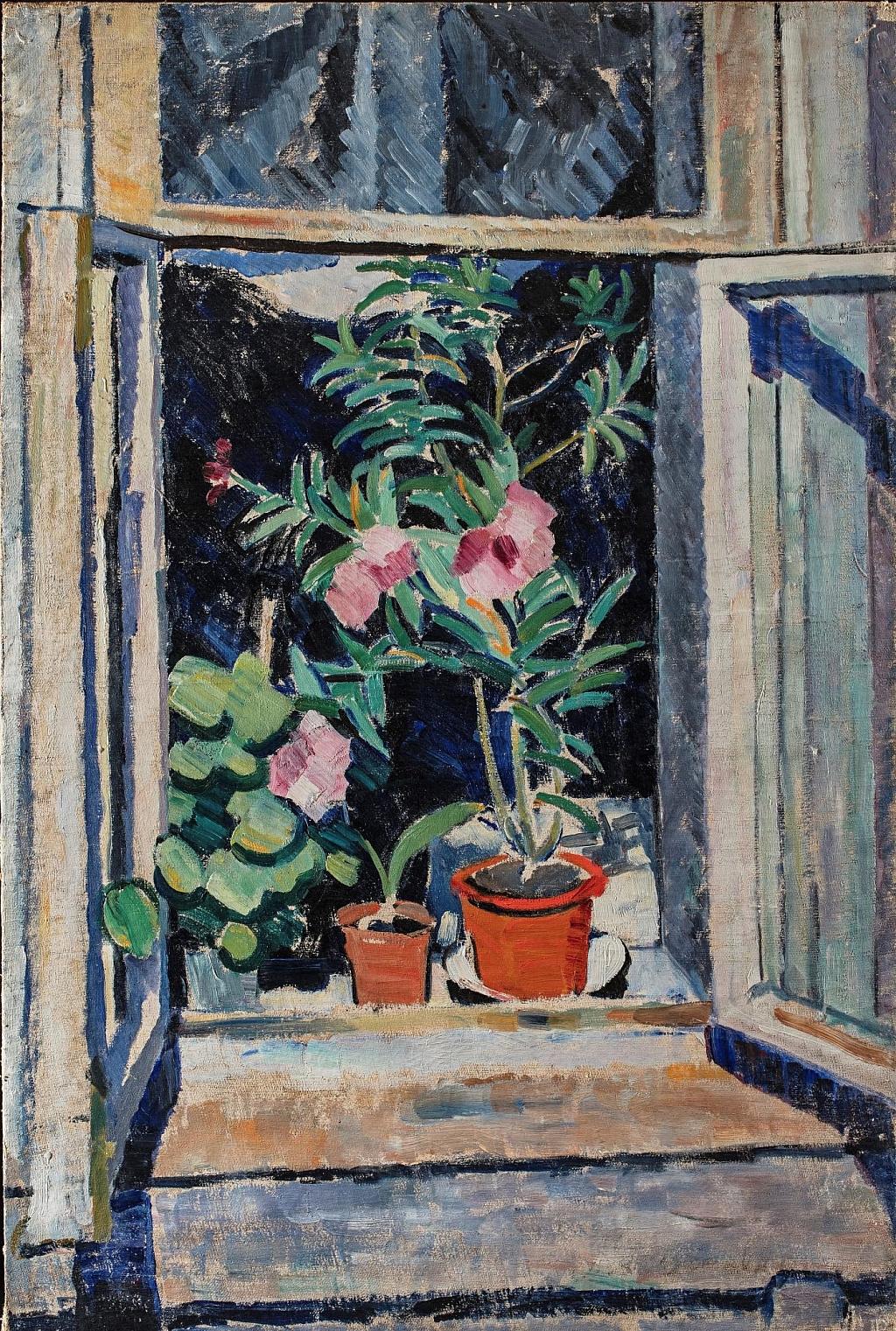 Olga Vladimirovna Rozanova. Flowers on the window