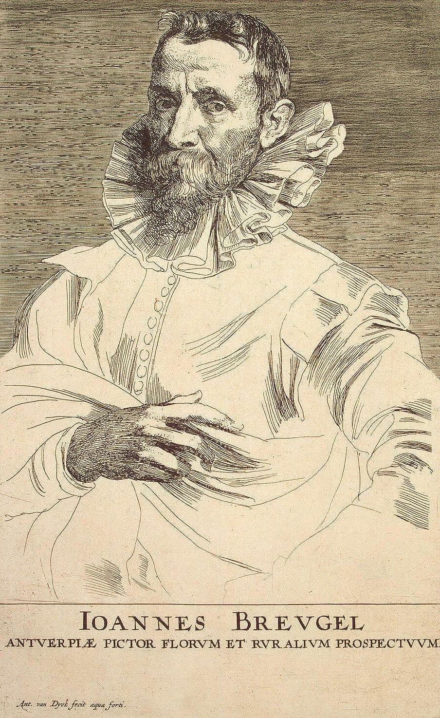 Anthony van Dyck. Portrait Of Jan Brueghel The Velvet