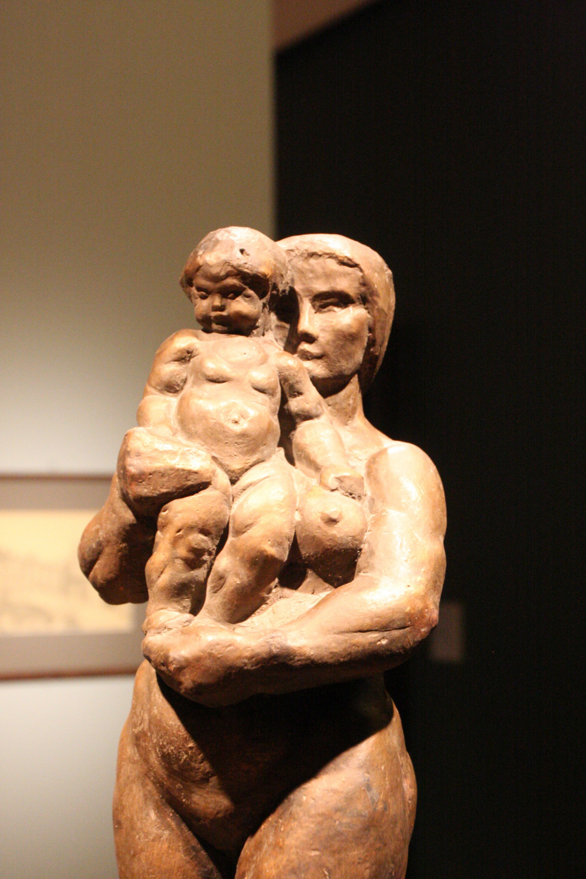 Марина Давыдовна Рындзюнская. Woman with child