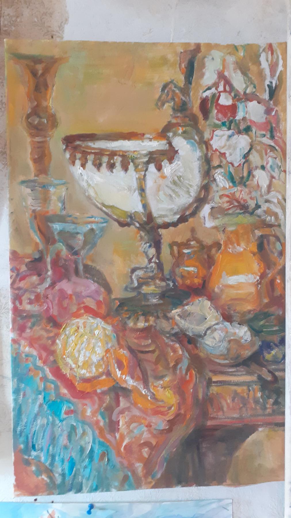 Igor Siemen. Still life with a bowl of sea shell