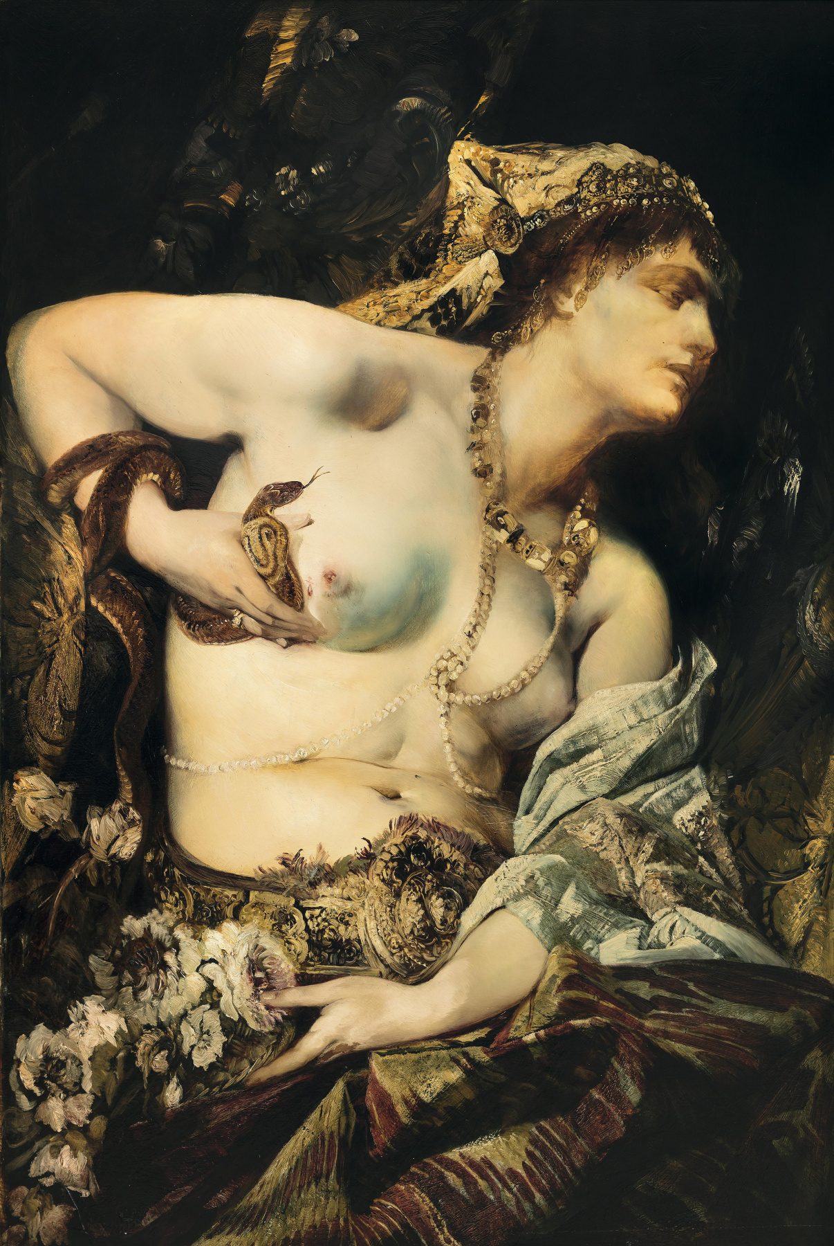 Hans Makart. The Death Of Cleopatra. Fragment.