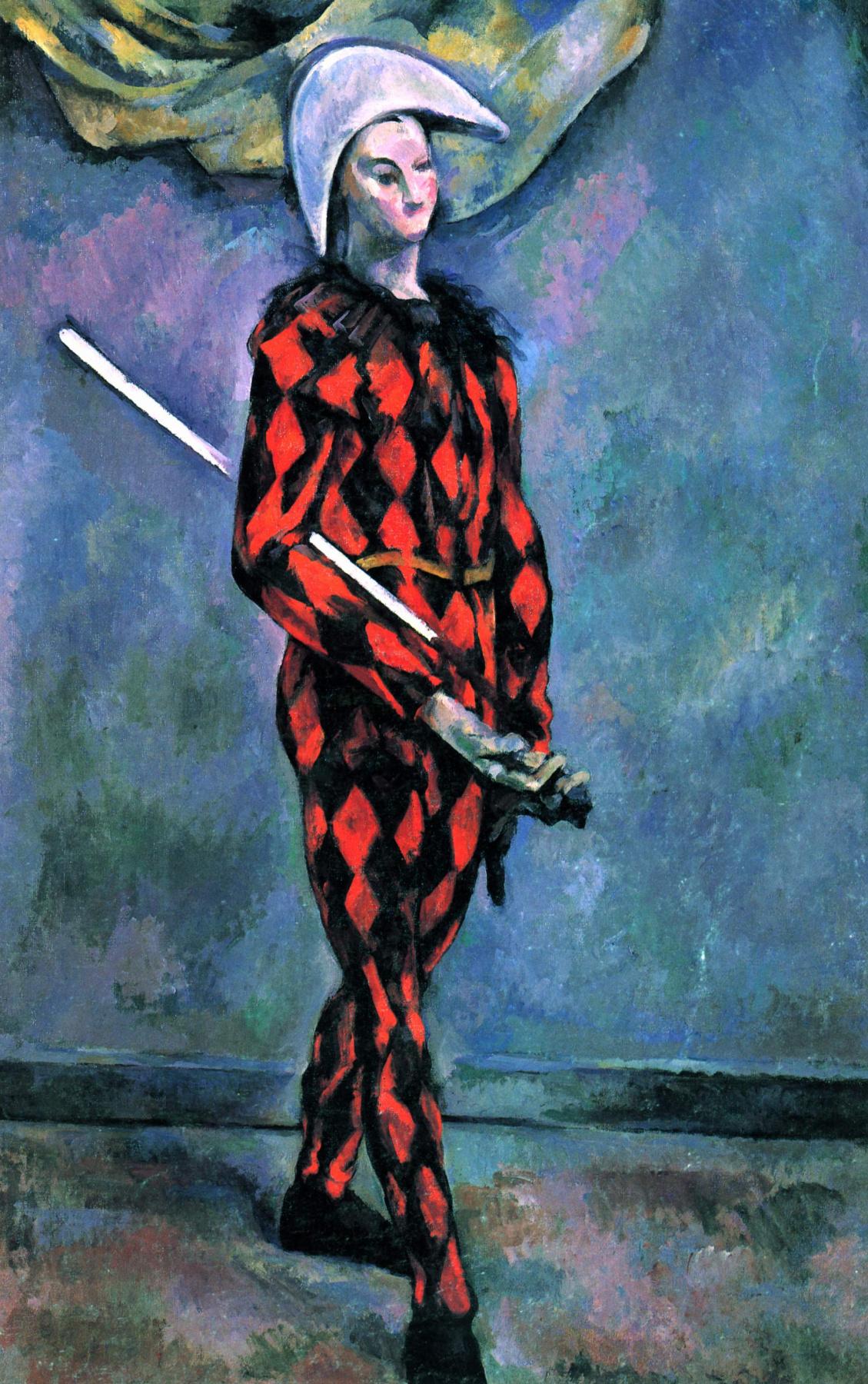 Paul Cezanne. Harlequin