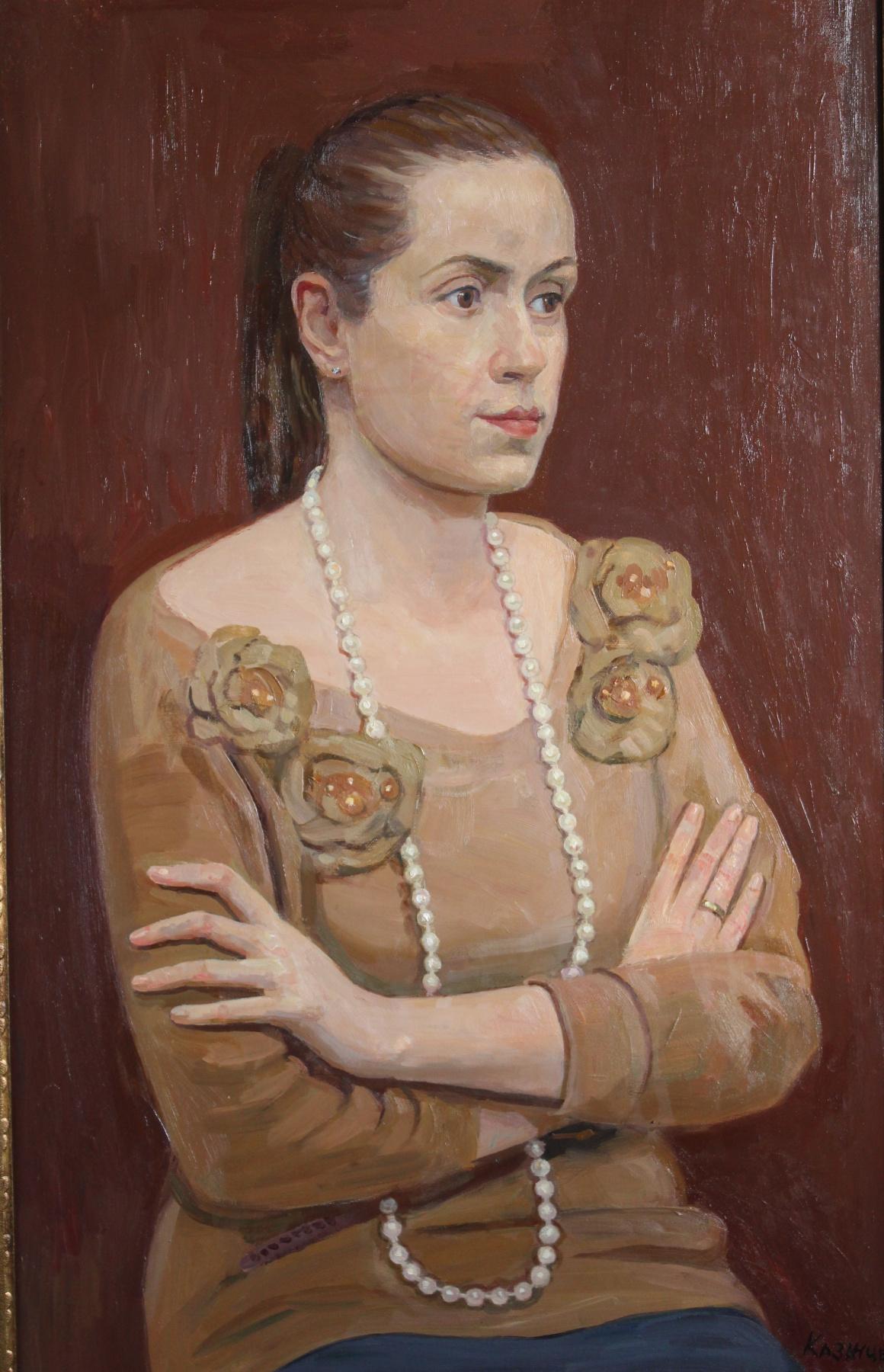 Eugene Alexandrovich Kazantsev. Portrait of Anna Bondareva-Evmenova.