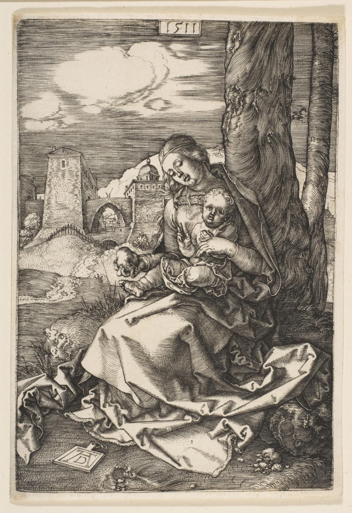 Albrecht Dürer. Madonna and child with a pear