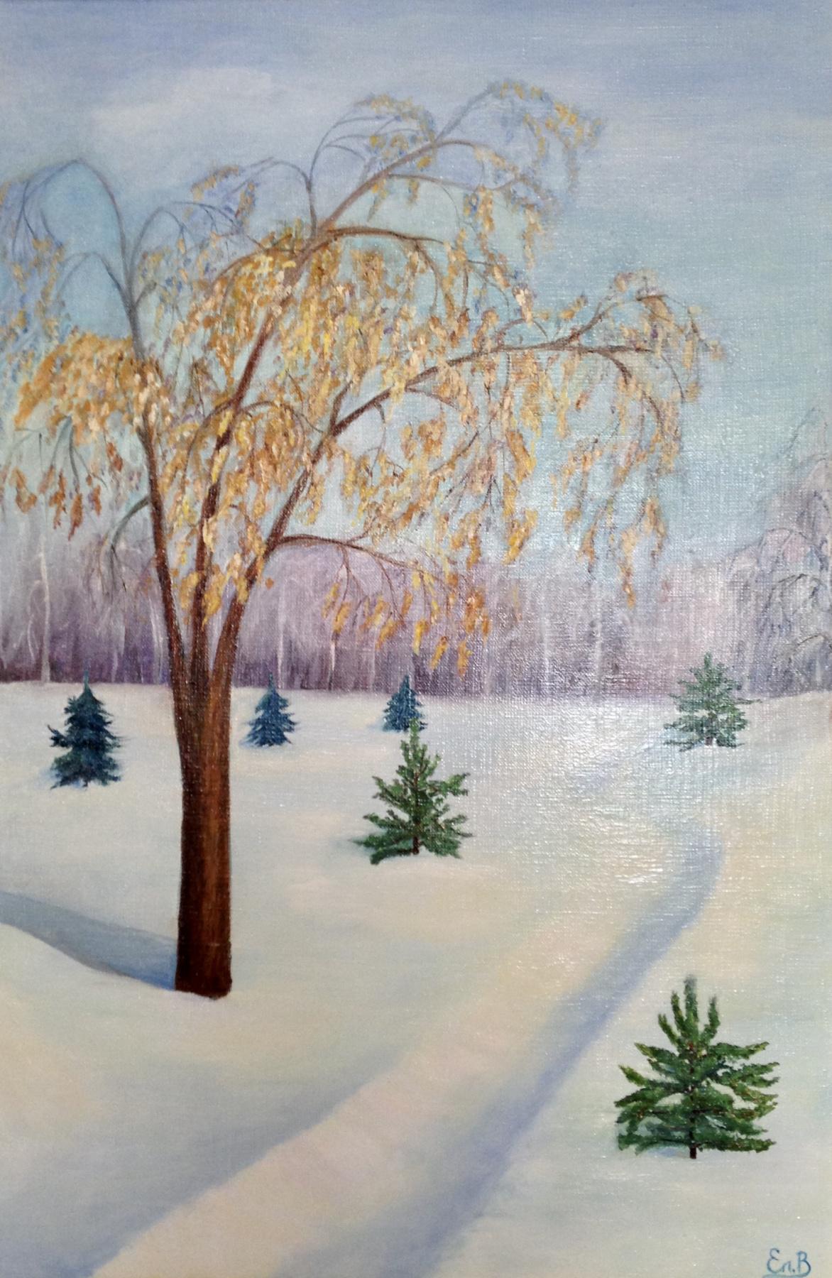 Elena Vasilyeva. Winter landscape