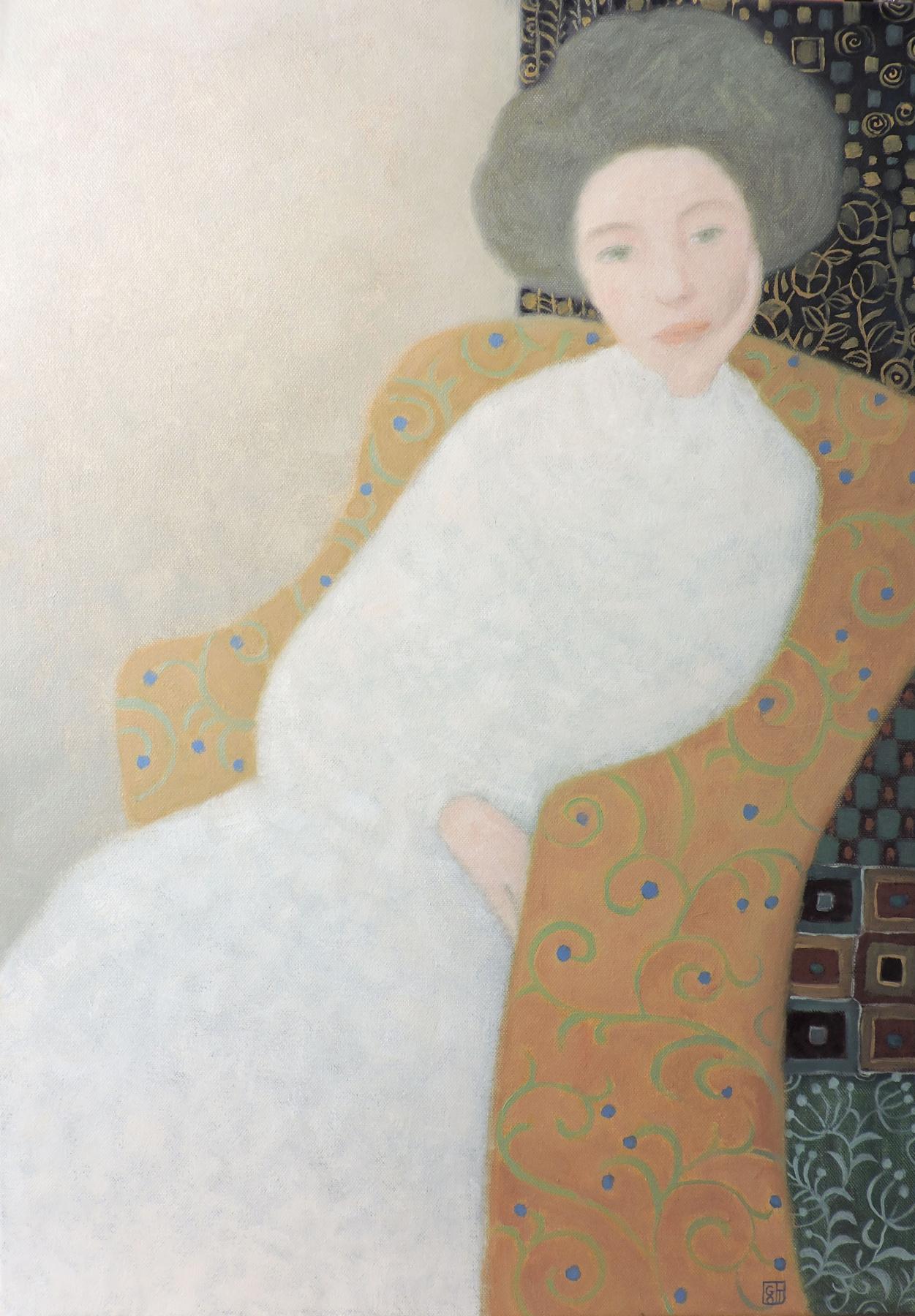 Olga Olegovna Gordienok. Woman in white