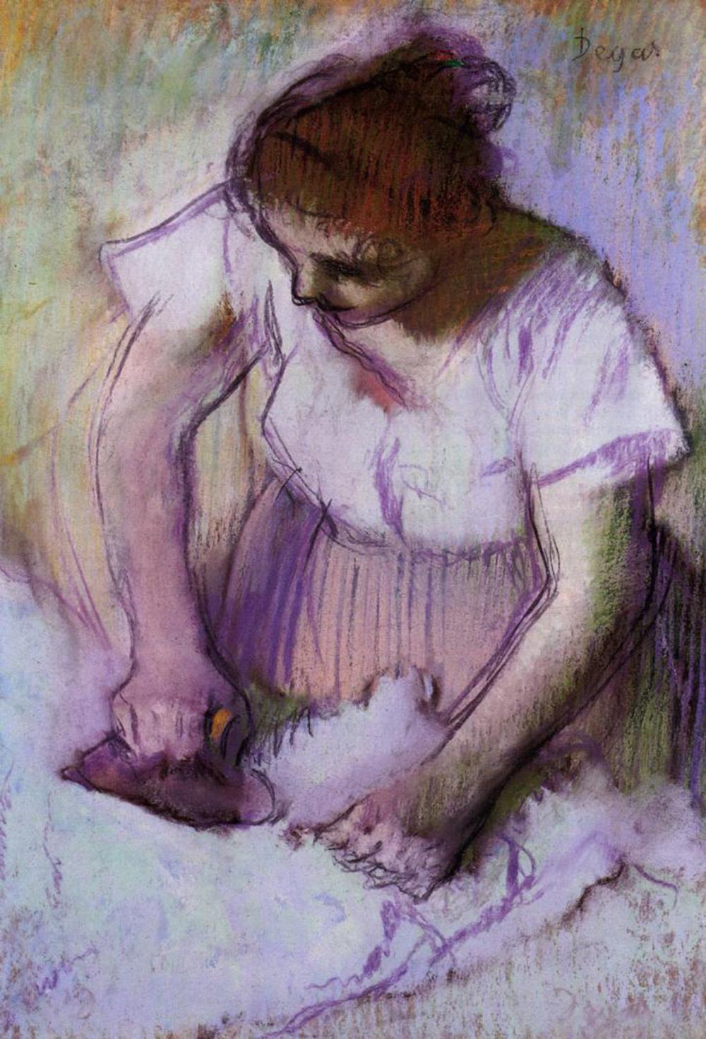 Edgar Degas. The old Ironing woman