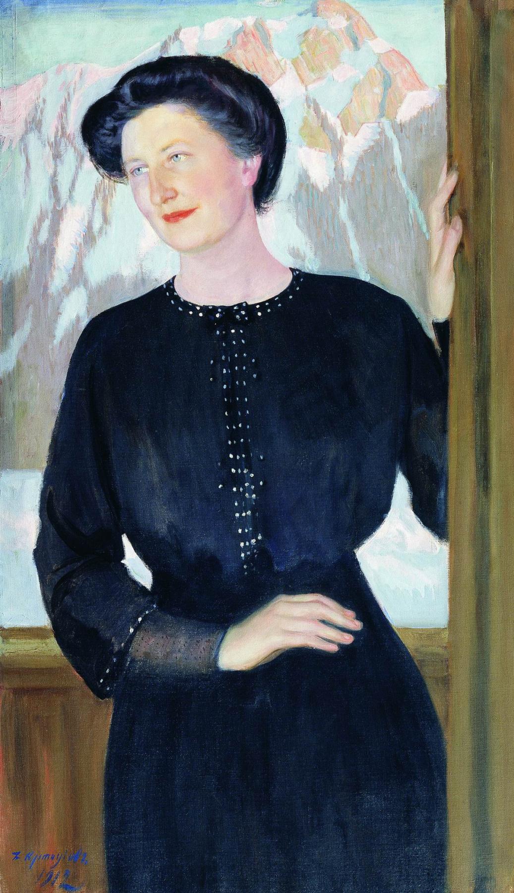 Boris Mikhailovich Kustodiev. Portrait Of Natalia Zelensky Illarionovna