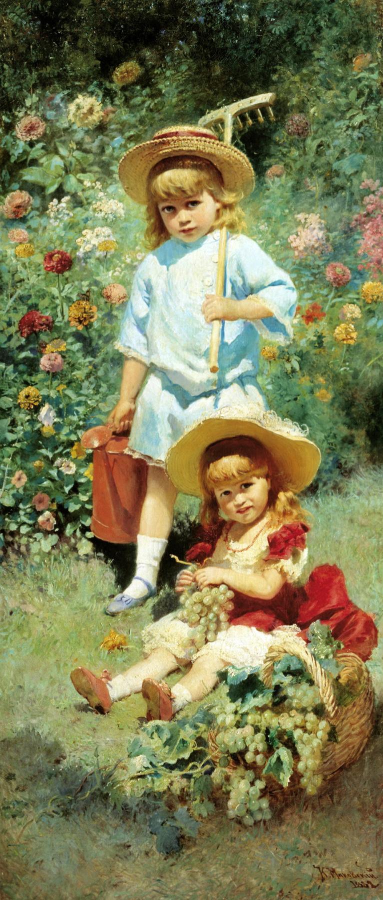 Konstantin Makovsky. Portrait of the artist's children