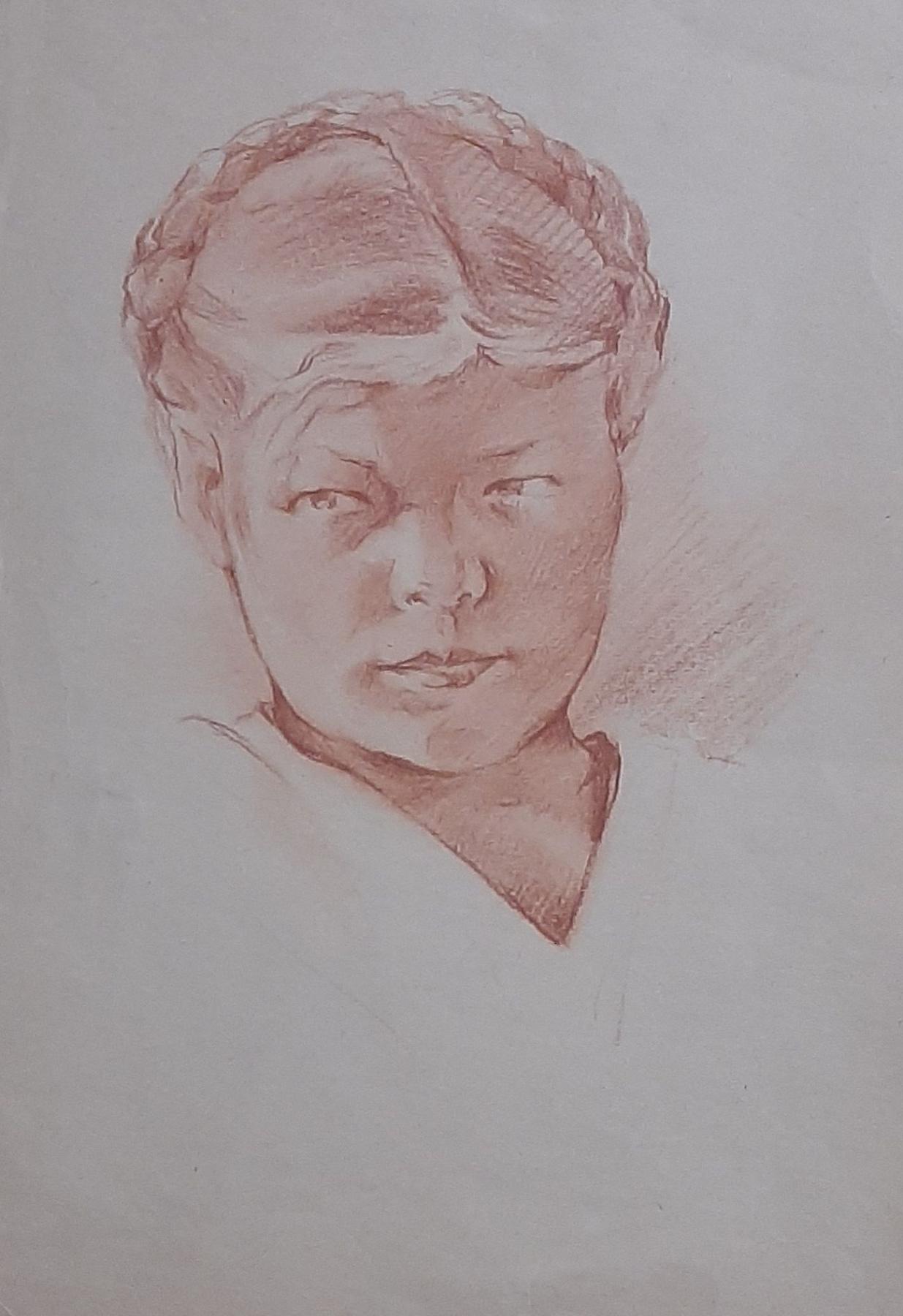 Natalia Agapieva - Zakharova. Female portrait. Ukrainian braid.