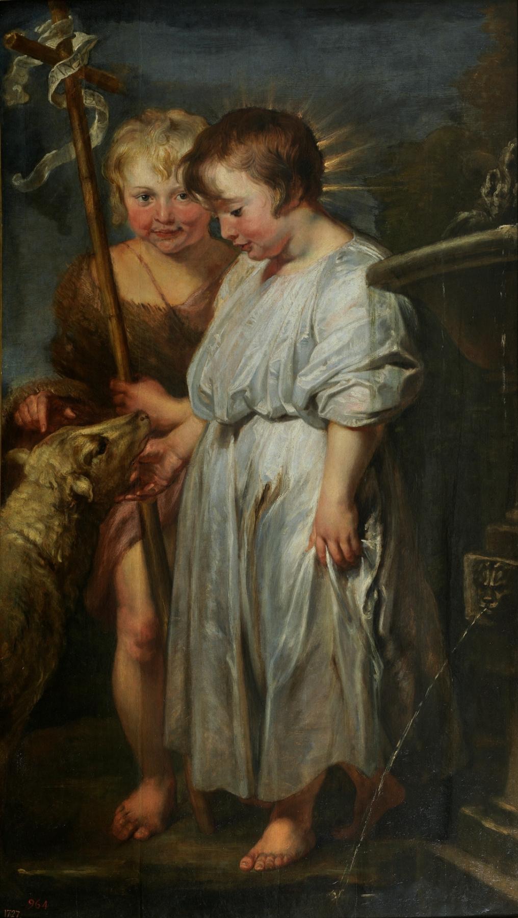 Anthony van Dyck. Boy Christ, Saint John the Baptist and the lamb