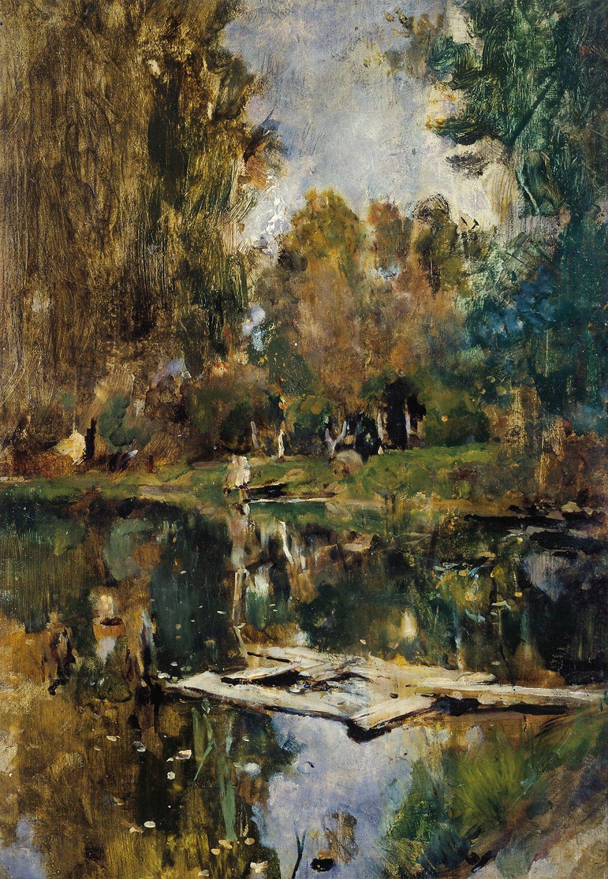 Valentin Aleksandrovich Serov. Pond. Abramtsevo.