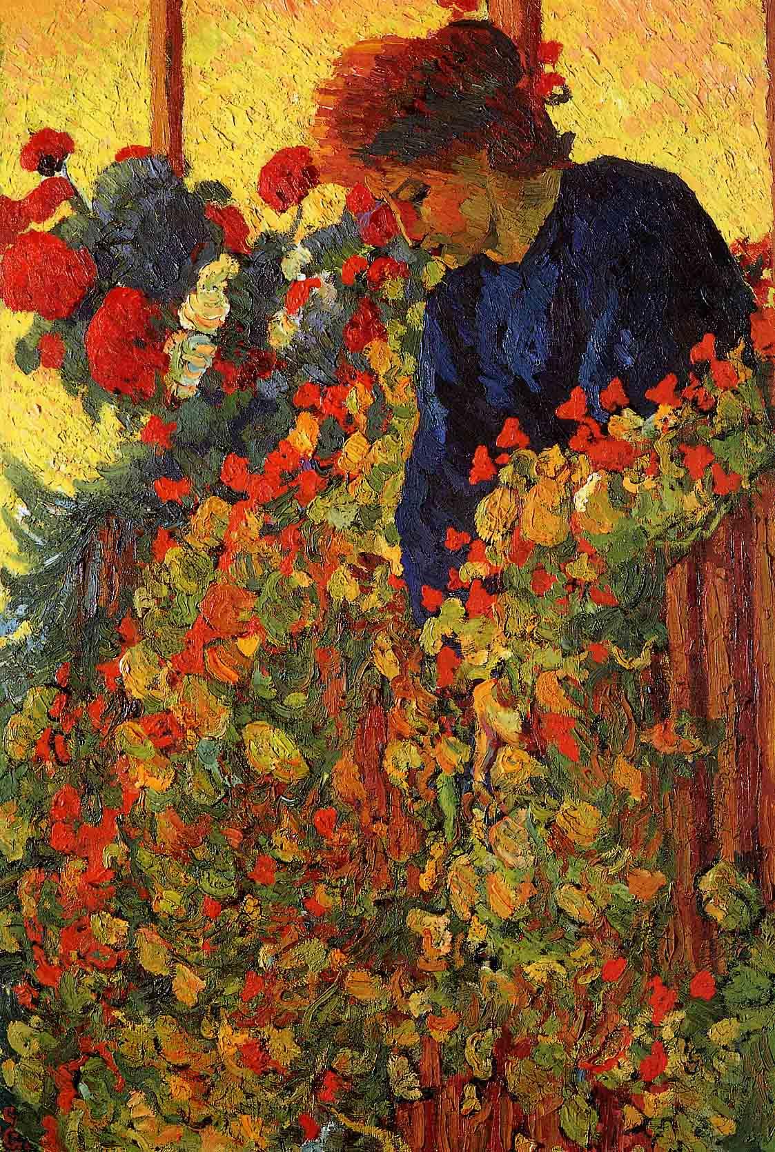 Giovanni Giacometti. In the garden