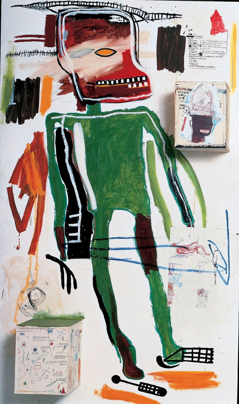 Jean-Michel Basquiat. Because it hurts