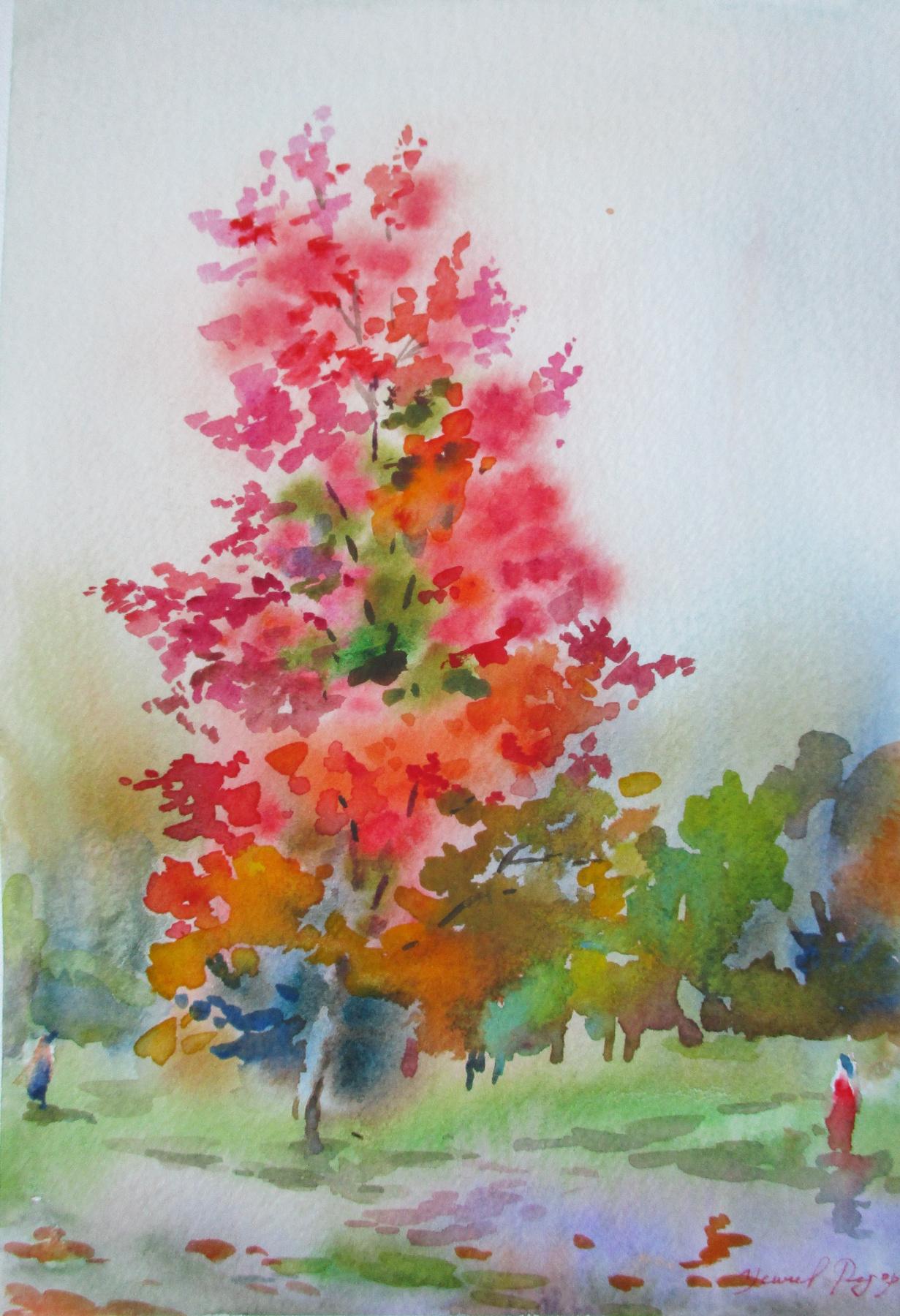Fedor Dmitrievich Usachev. Red autumn.