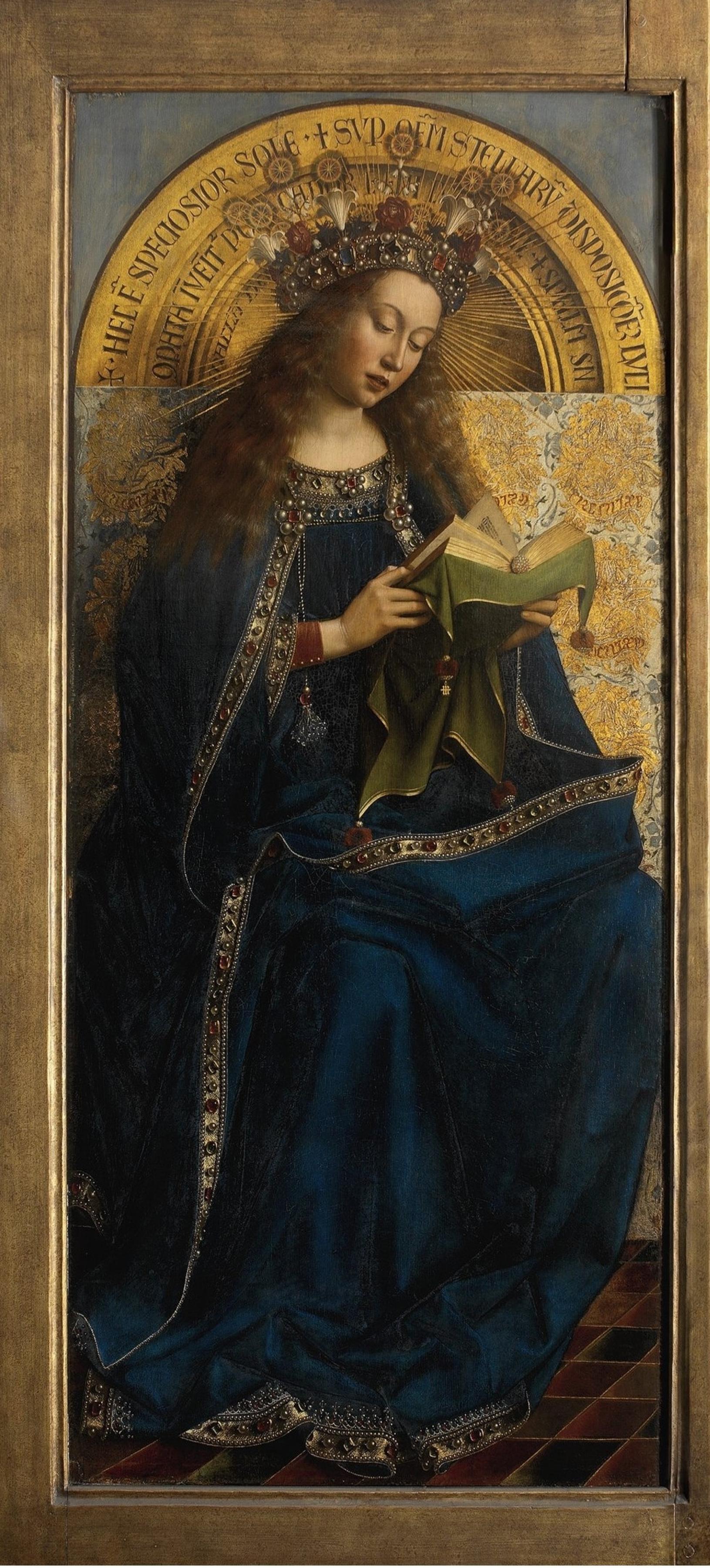 Ян ван Эйк. Гентский алтарь. Богоматерь (фрагмент)