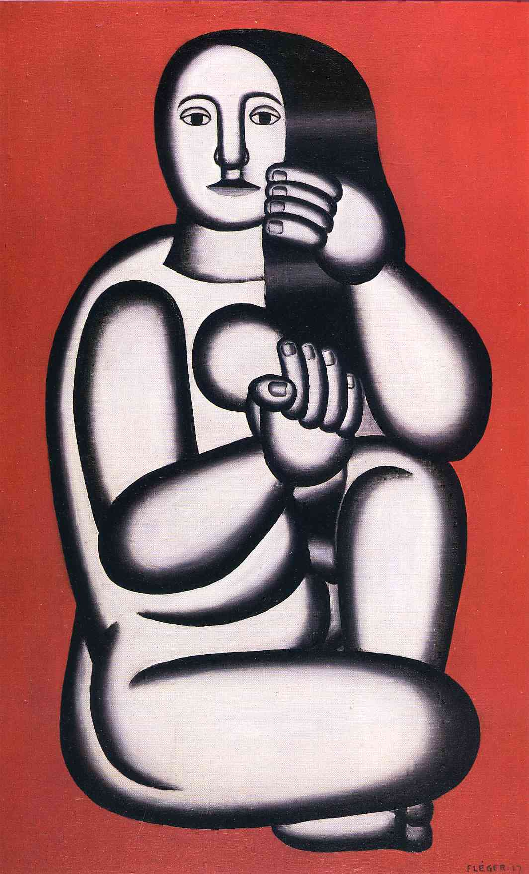 Fernand Leger. Seated woman