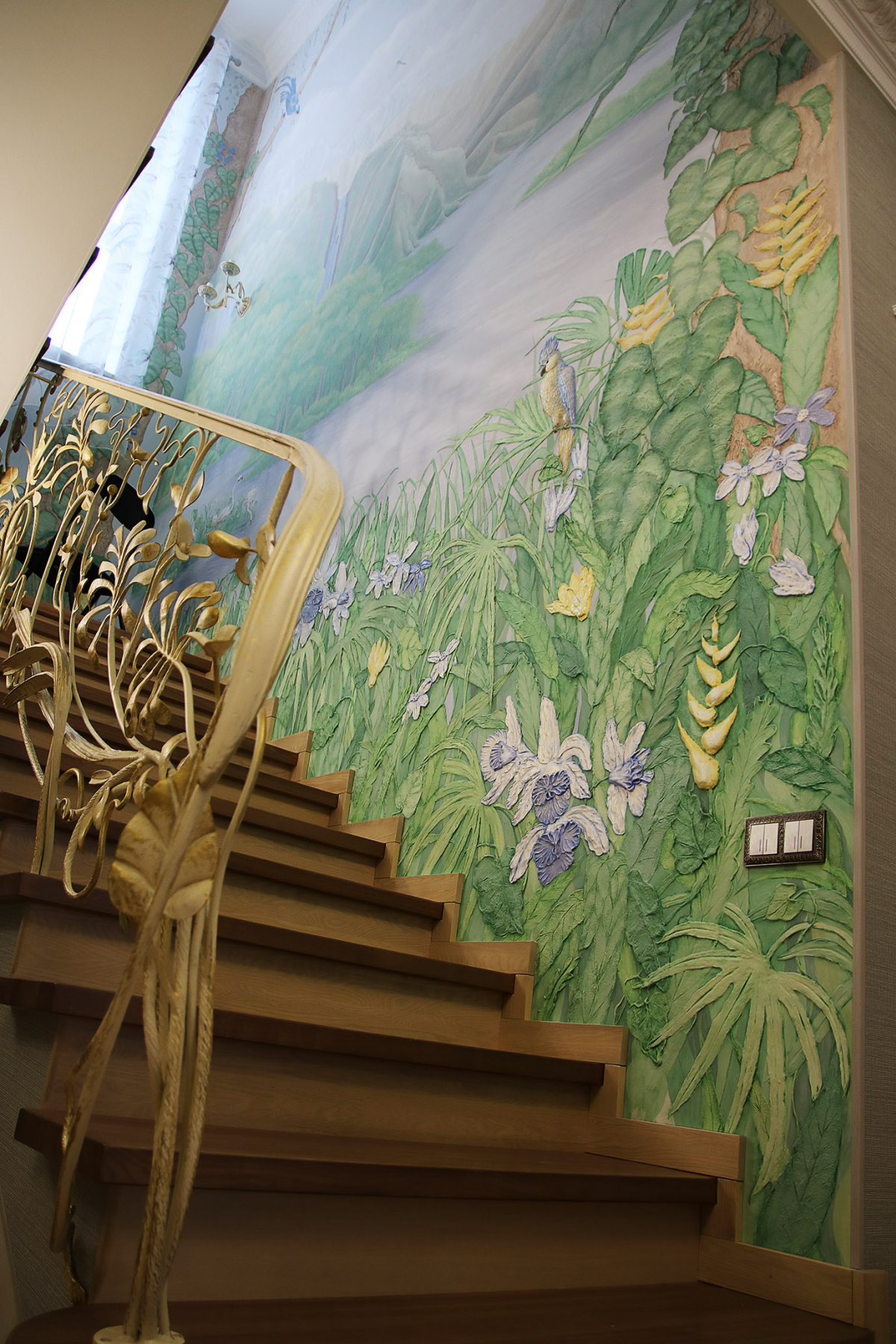 "Yaroslav Yurievna Maksimova. Surround wall painting, Tropical landscape """