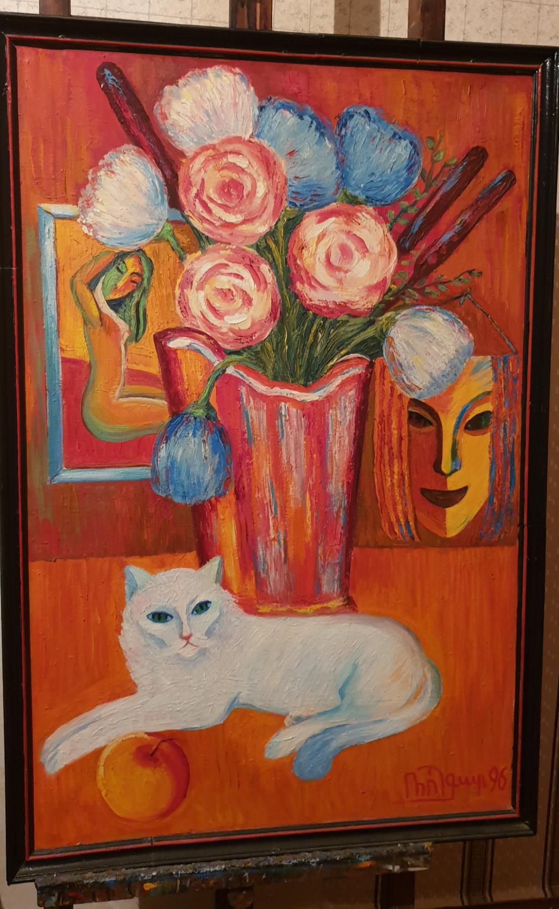 Robert Patwakanovich Gyulazyan. Still life with a cat