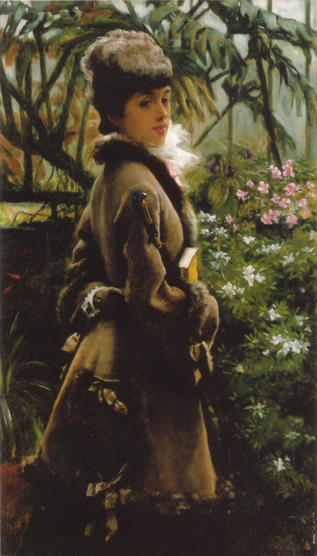 James Tissot. In the greenhouse