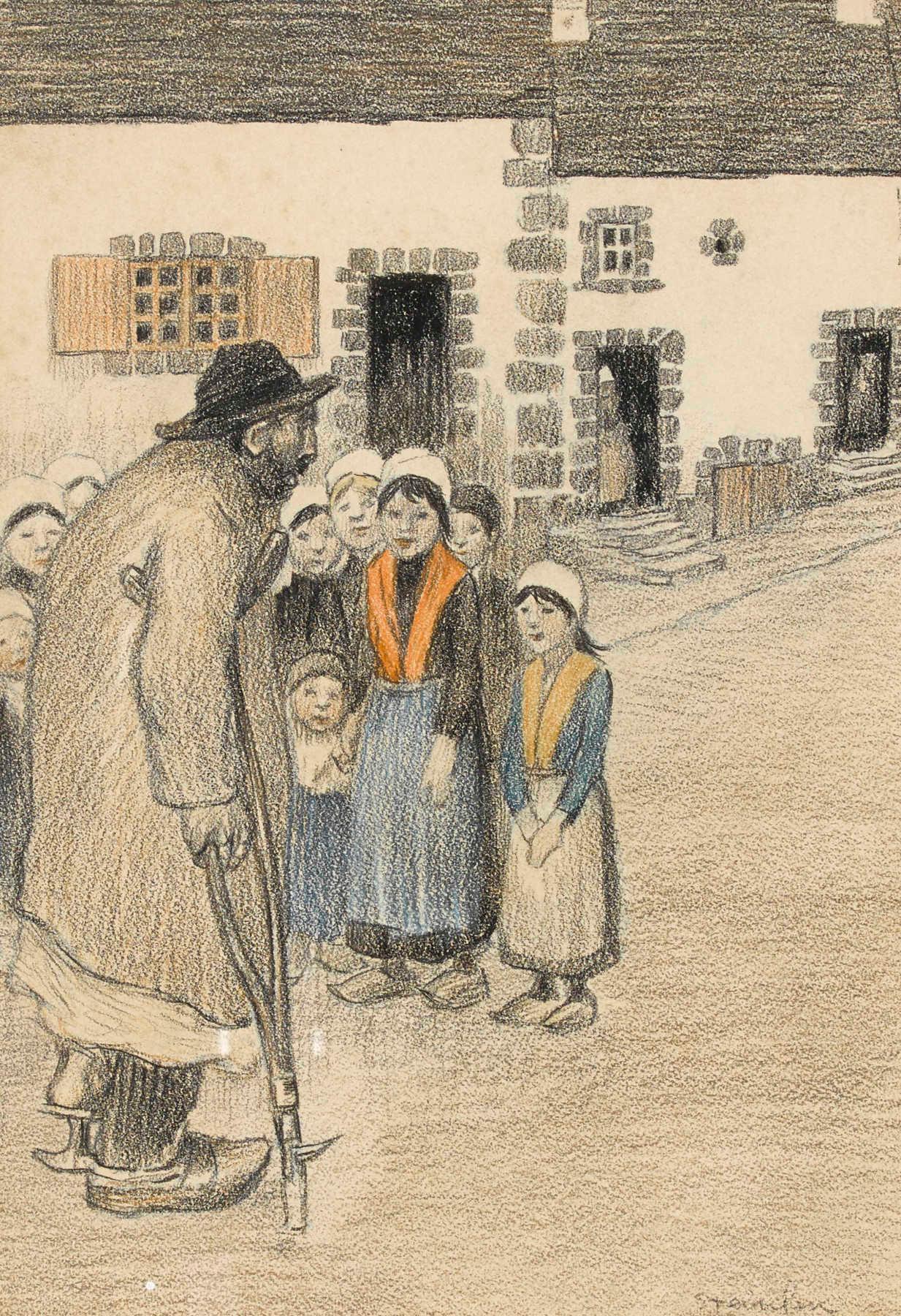 Theophile-Alexander Steinlen. Crippled children
