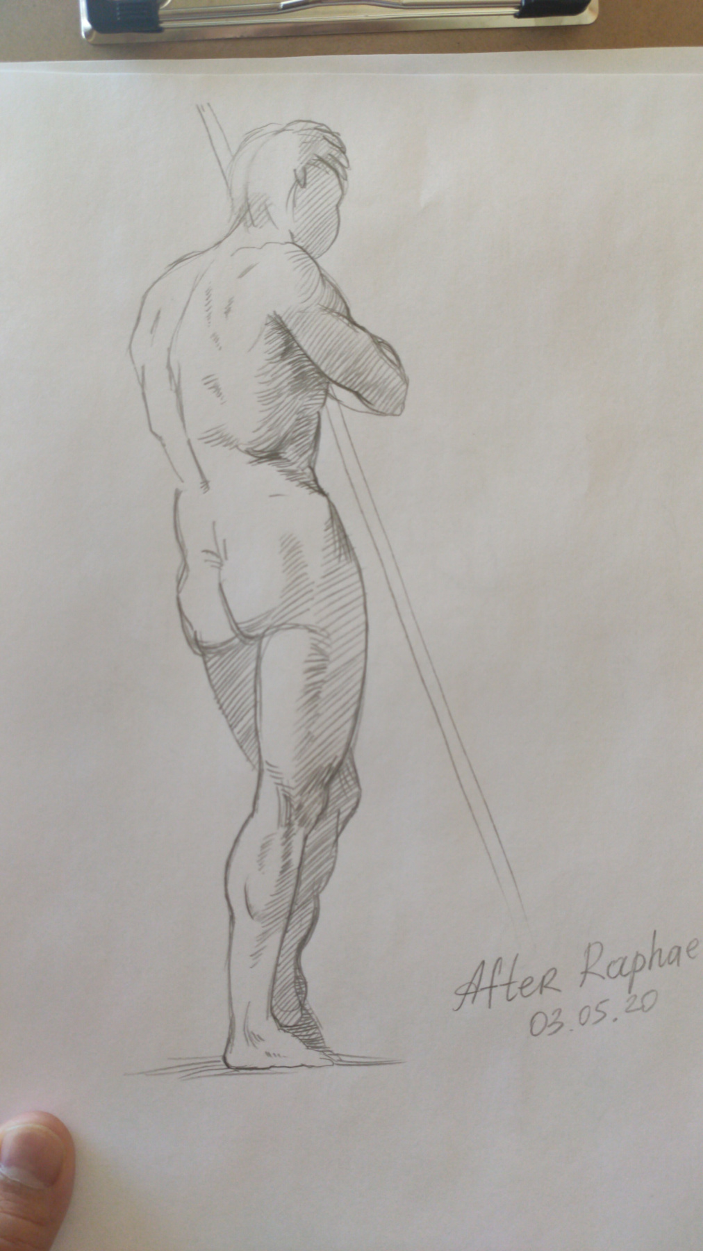 Architect Mendisabal. Copy from Raphael's drawing