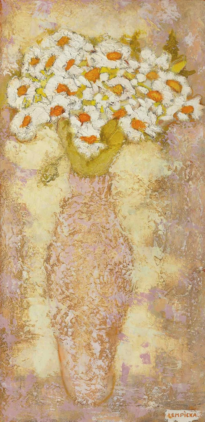 Tamara Lempicka. Daisies in a vase