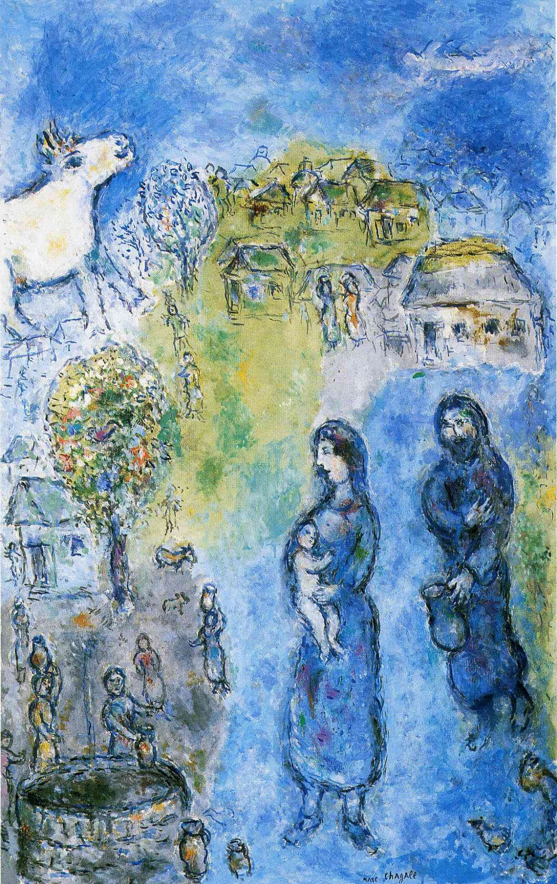 Marc Chagall. Peasants at the well