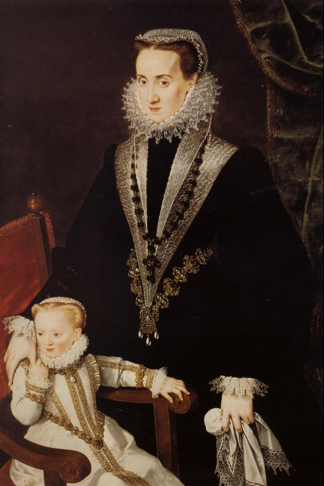 Sofonisba Anguissola. Dona Maria Manrique de Lara with her daughter