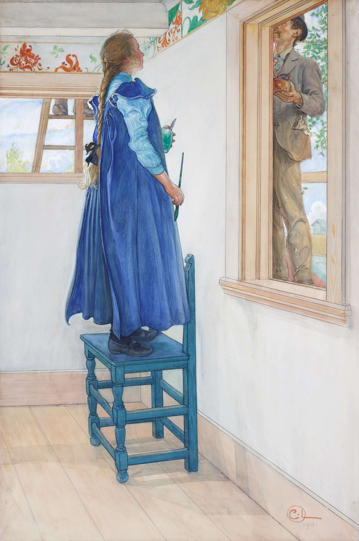 Carl Larsson. Suzanne and another
