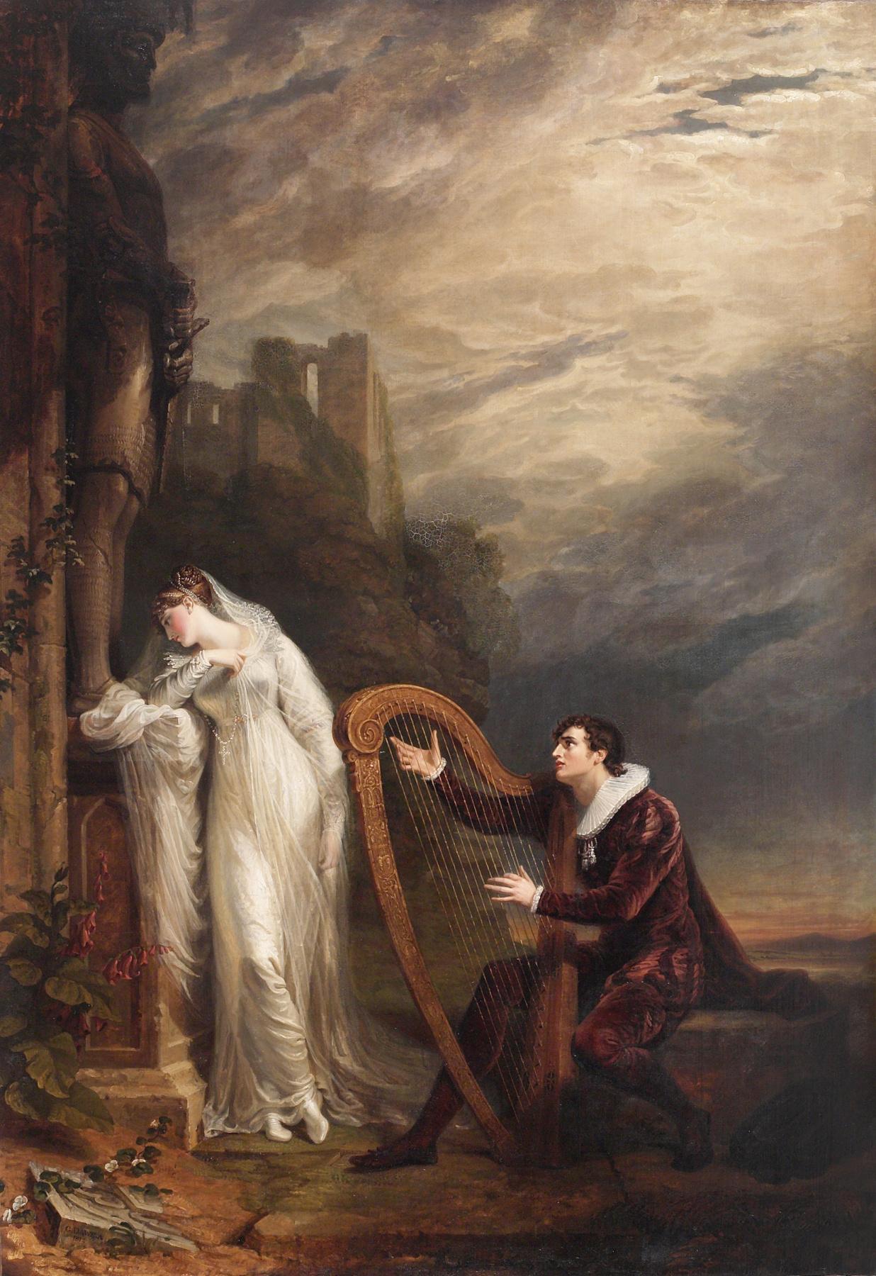 """George Dow. Genevieve (to S.T. Coleridge's poem """"Love"""")"""
