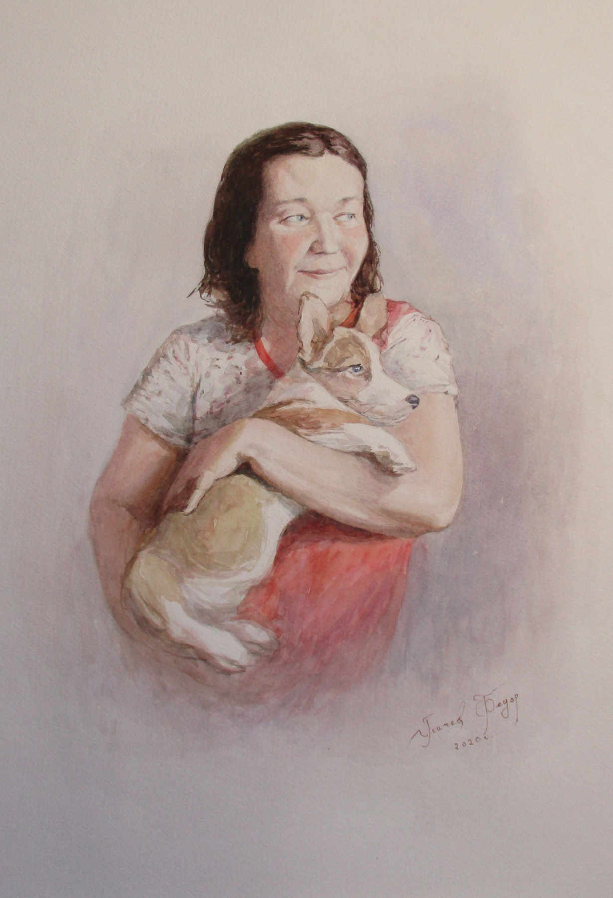 Fedor Dmitrievich Usachev. Portrait of Mom with Willie
