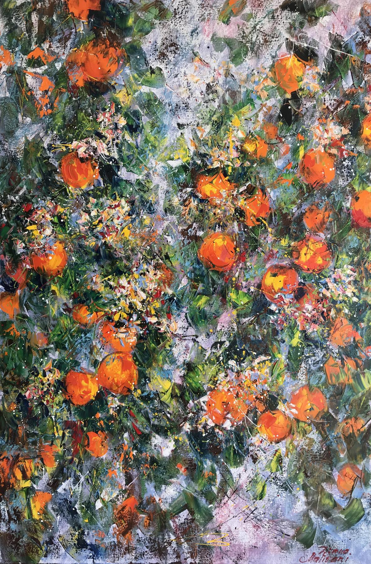 Диана Владимировна Маливани. Blooming Orange Tree
