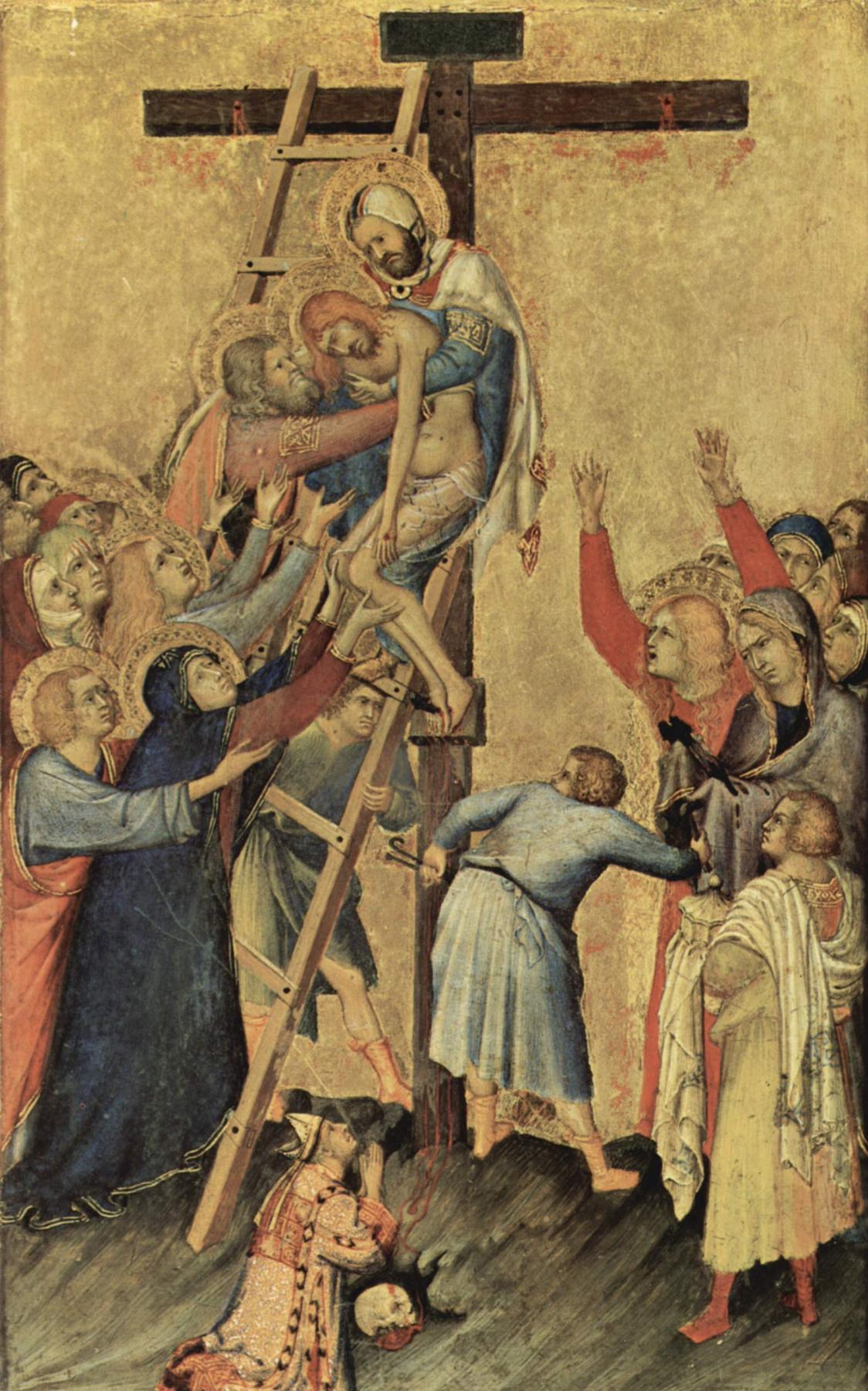 Simone Martini. The Altar Orsini. The descent from the cross