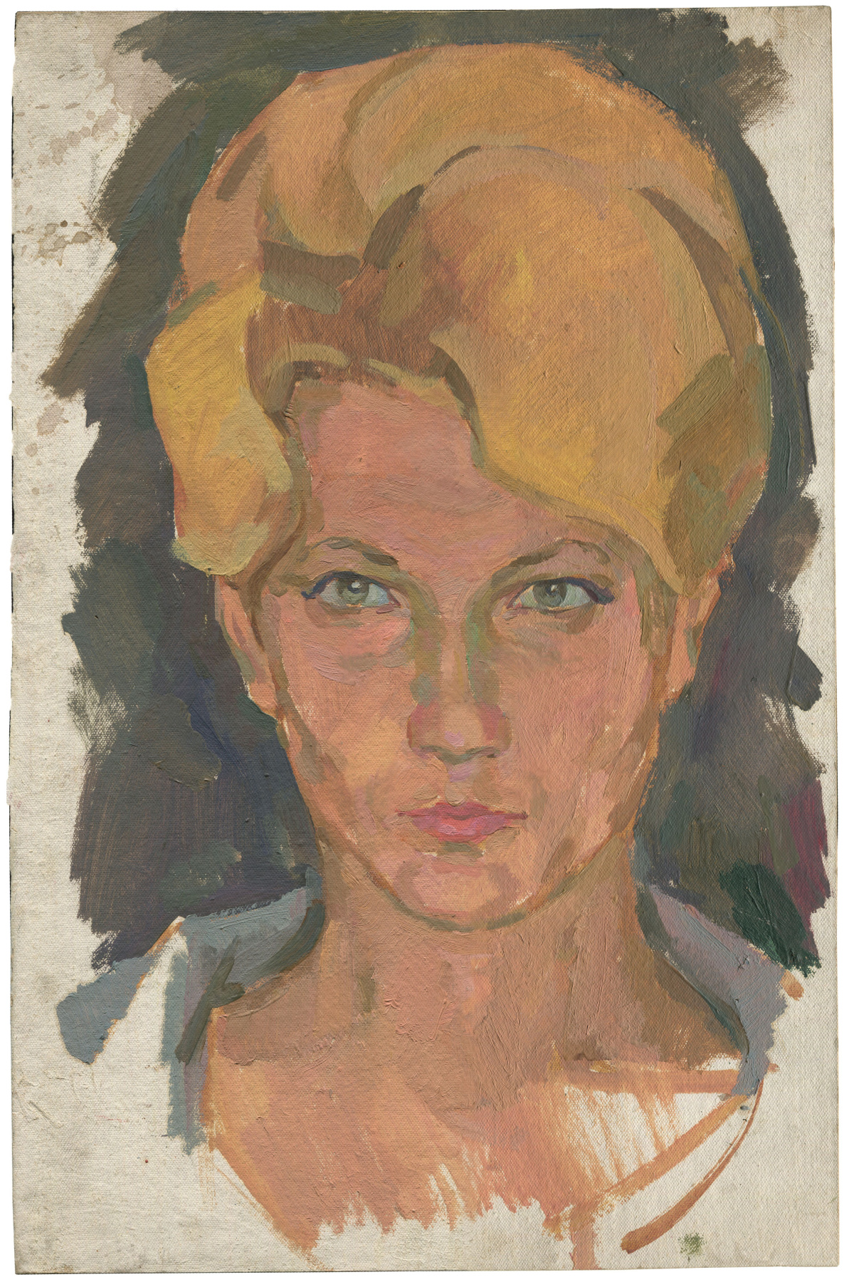 Alexandrovich Rudolf Pavlov. Portrait of a woman with blond hair.