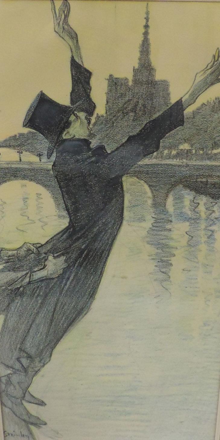 Theophile-Alexander Steinlen. Suicide over the Seine