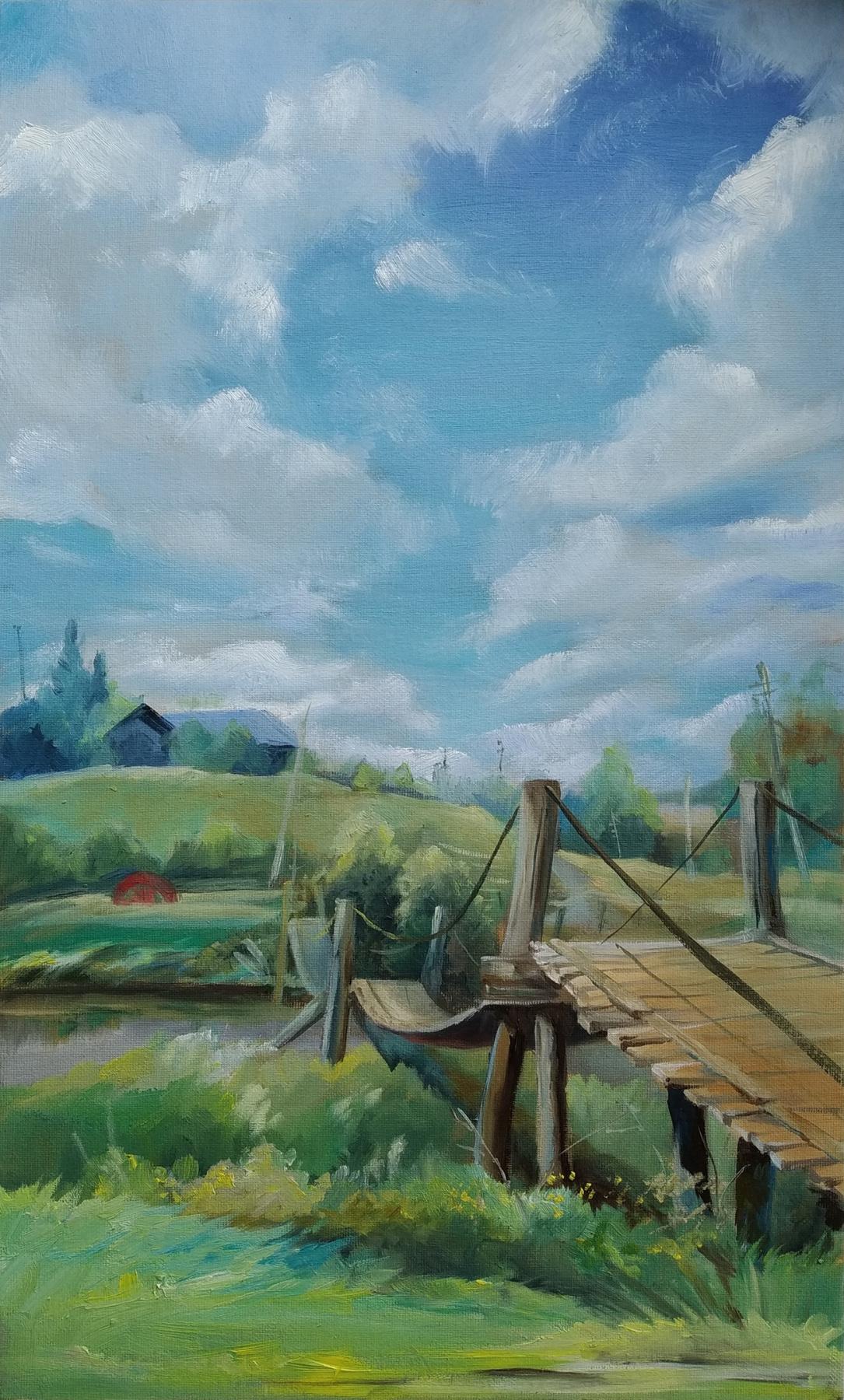 """Екатерина Владиславовна Ивлева. """"The bridge in Chusovoy"""""""