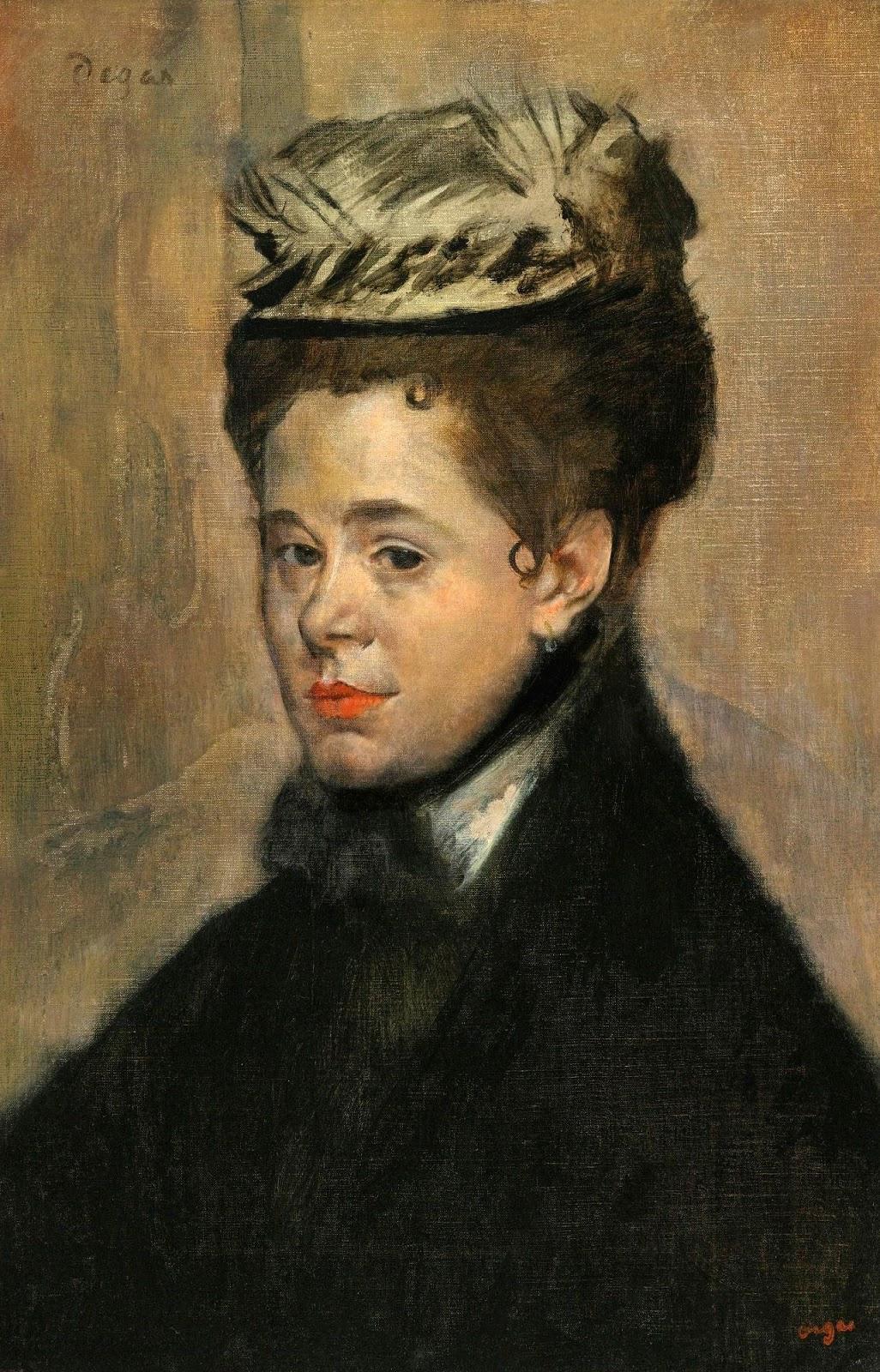 Edgar Degas. Portrait of a woman