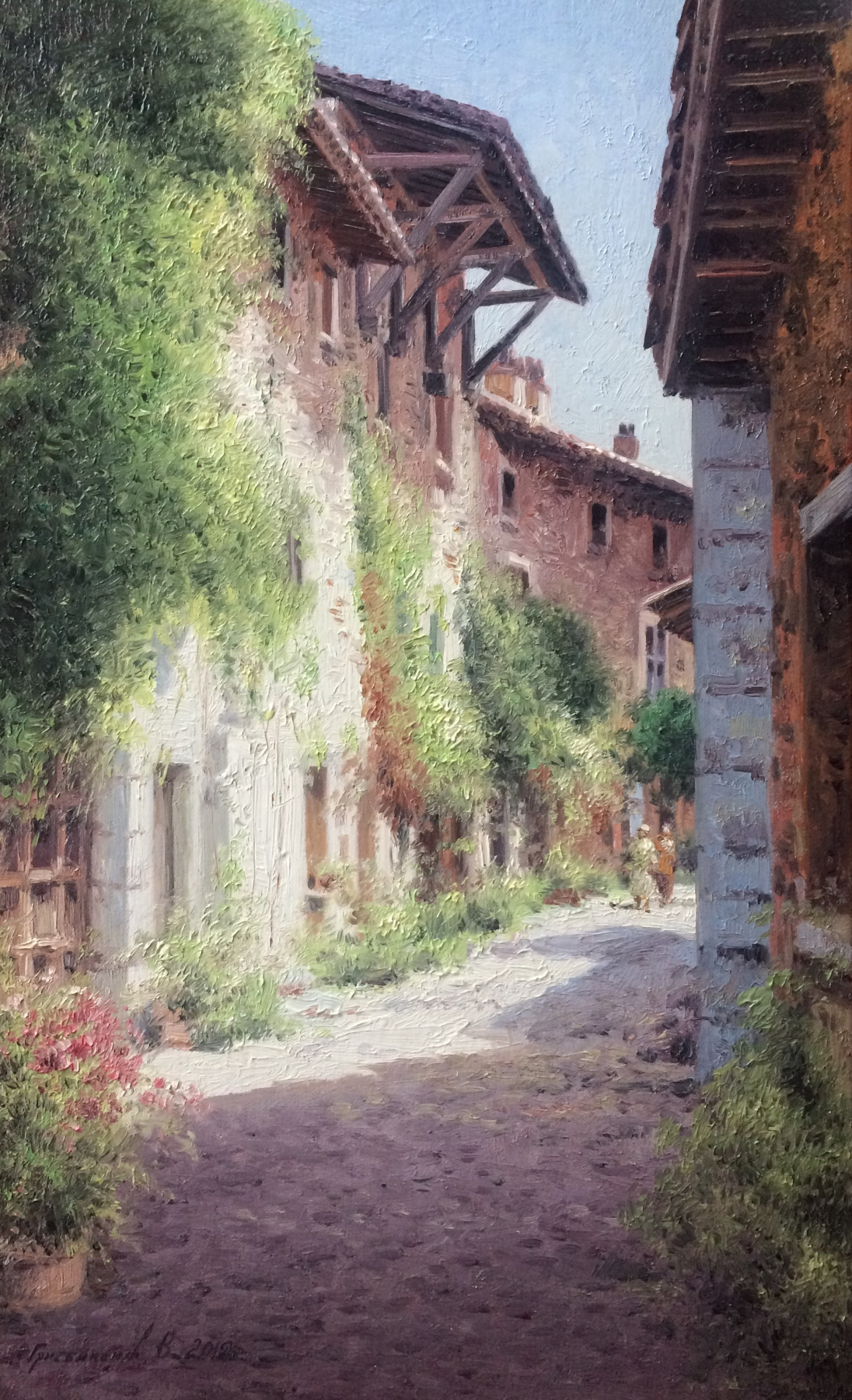 Vasily Ivanovich Gribennikov. Old medieval street. France