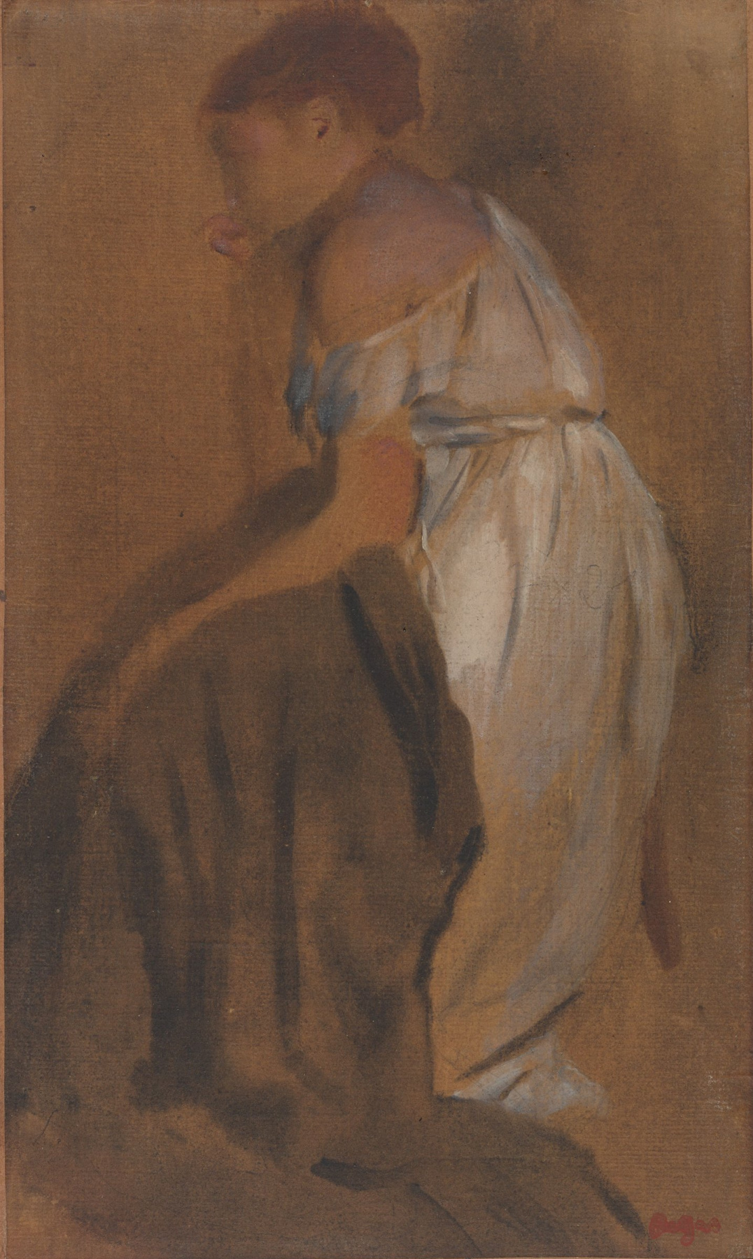 Edgar Degas. Sketch of a seated woman