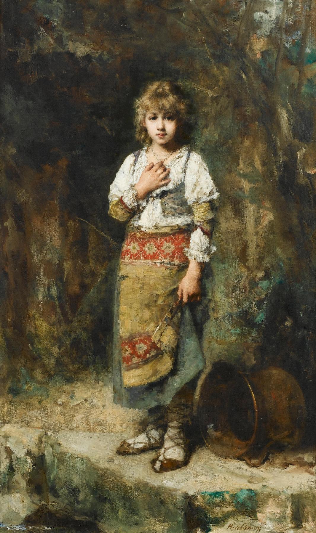 Alexey Alekseevich Kharlamov. Peasant girl.