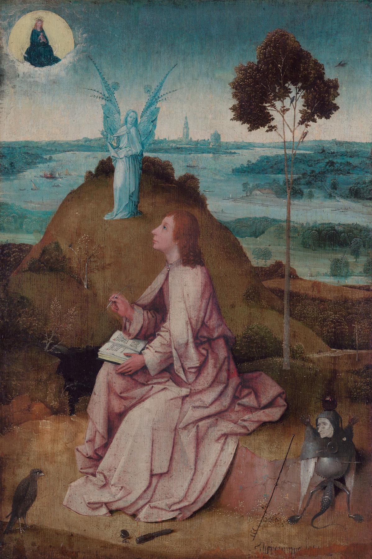 Hieronymus Bosch. Saint John on Patmos