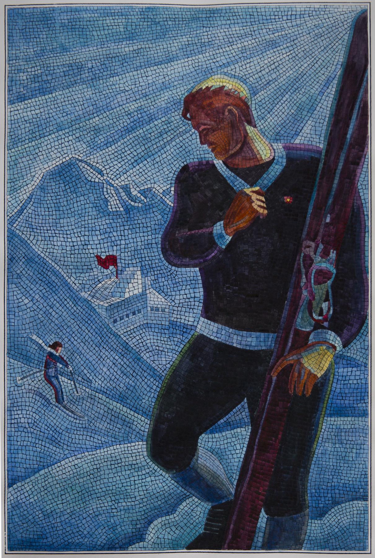 Анатолий Николаевич Ганкевич. Skier