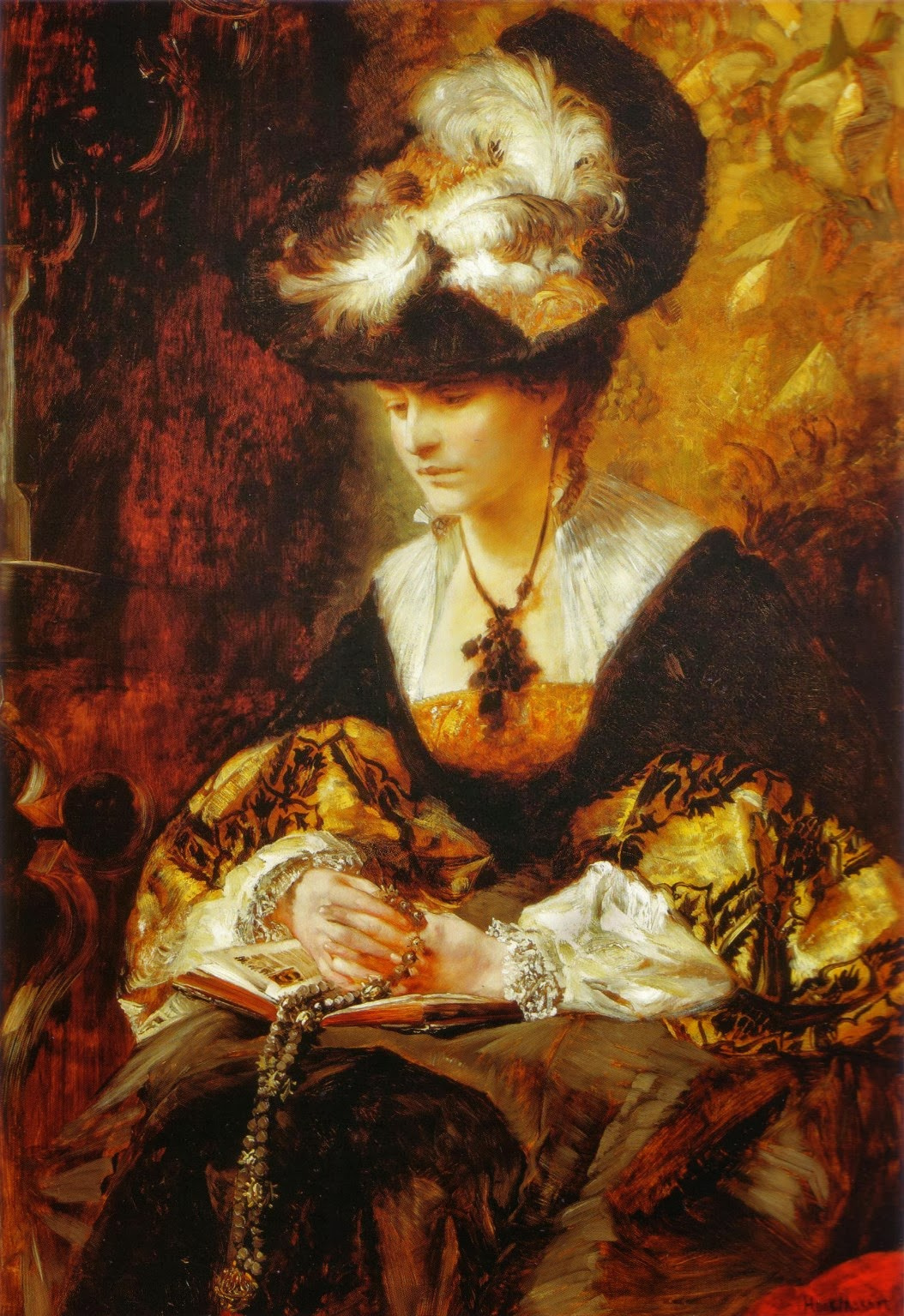 Hans Makart. Portrait of Countess Palffy