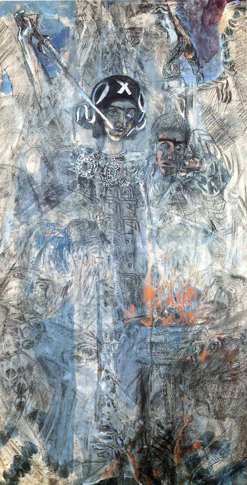 Mikhail Vrubel. The vision of the prophet Ezekiel