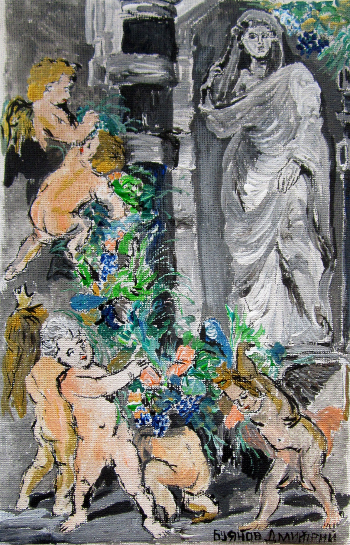 "Дмитрий Юрьевич Буянов. A free copy of p. P. Rubens ""the Statue of Ceres"""