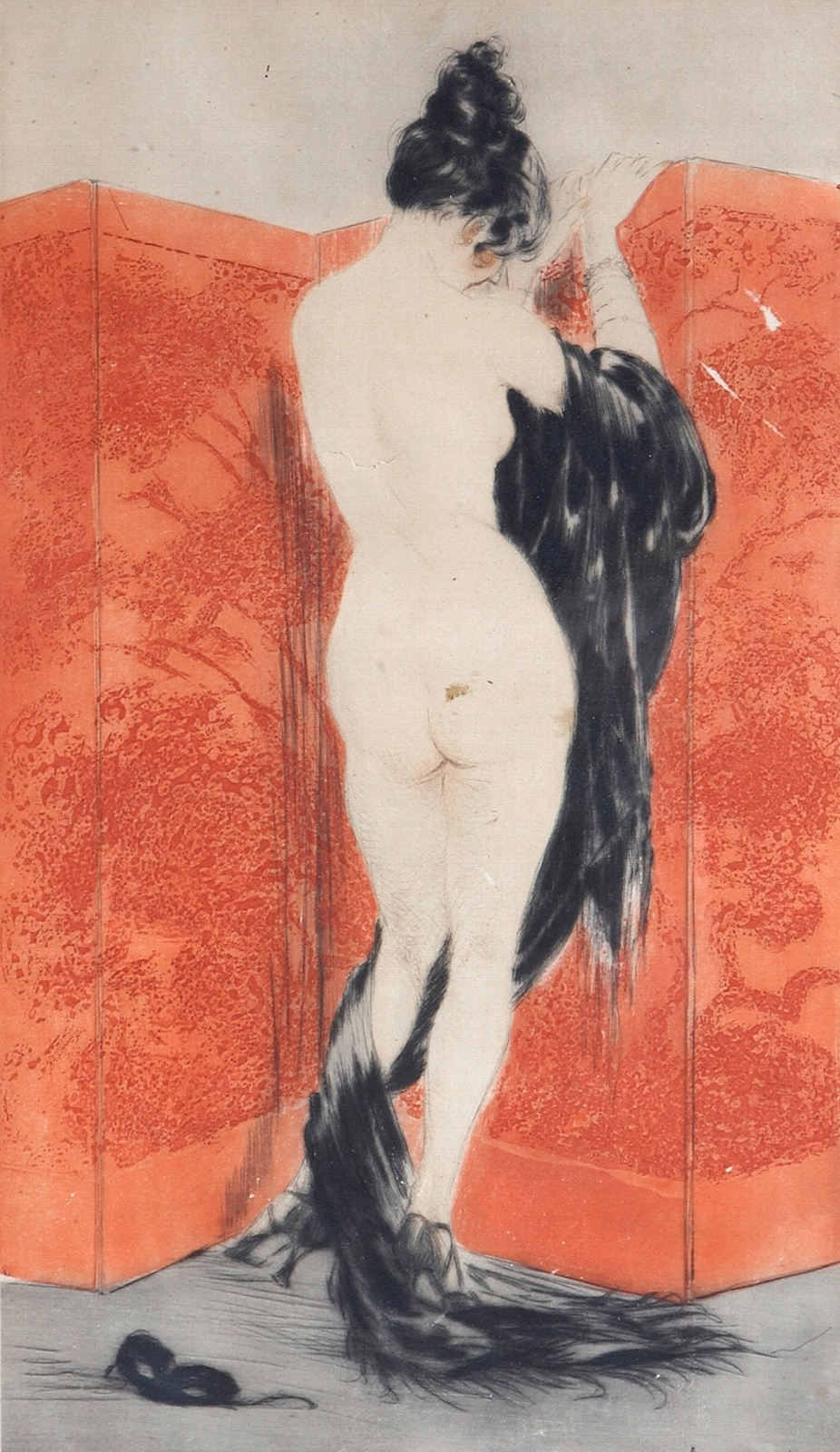 Icarus Louis France 1888 - 1950. Red screen. 1922