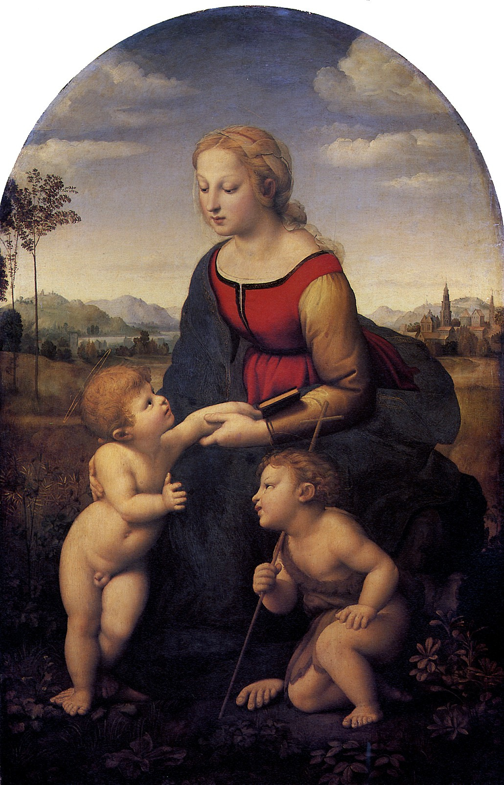 Raphael Santi. A great gardener. Madonna and child with John the Baptist